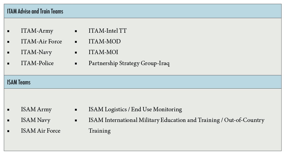 Figure 3: ITAM and ISAM Teams